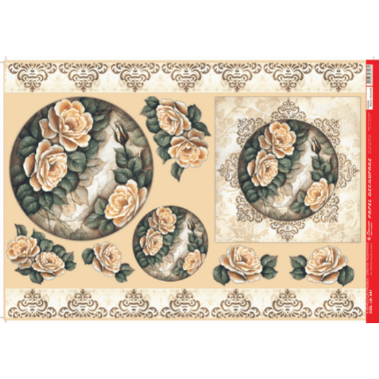 Papel-Decoupage-Litocart-34x48cm-LD-944-Rosas-Amarela