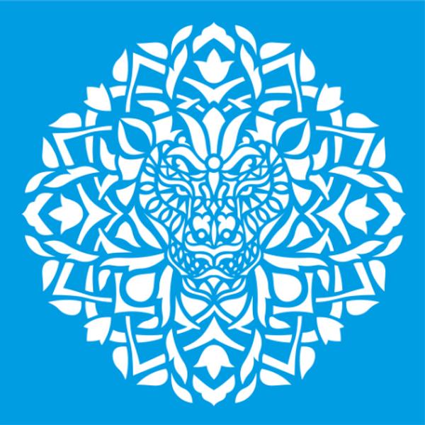 Stencil-Litocart-20x20-LSQ-122-Mandala-Animal