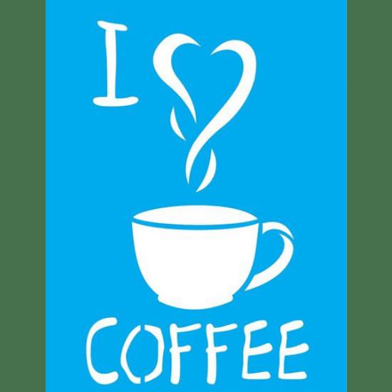 Stencil-Litocart-20x15-LSM-084-I-Love-Coffee