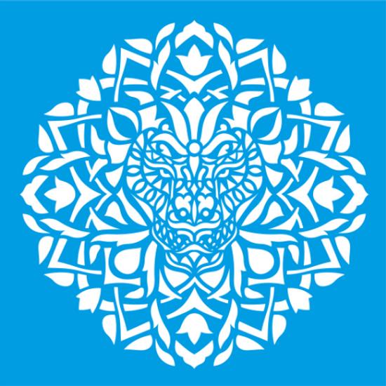 Stencil-Litocart-30x30-LSPG-036-Mandala-Animal