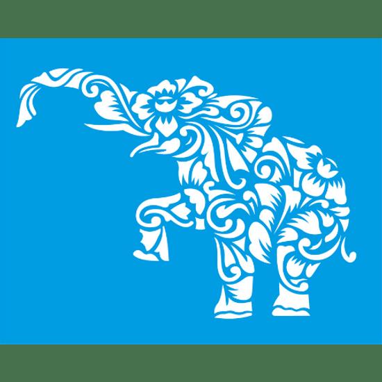 Stencil-Litocart-25x20-LSG-110-Elefante-Arabescos