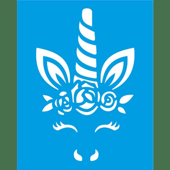 Stencil-Litocart-25x20-LSG-111-Face-Unicornio-com-Flores