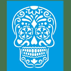 Stencil-Litocart-25x20-LSG-119-Caveira-Mexicana-I