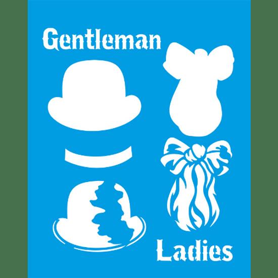 Stencil-Litocart-25x20-LSG-118-Gentleman-Ladies