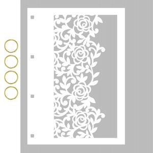 Capa-para-Mini-Album-em-Acrilico-Branco-Decore-Crafts-15x21cm-2101-62-Renda-II