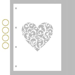 Capa-para-Mini-Album-em-Acrilico-Branco-Decore-Crafts-15x21cm-2101-63-Coracao-II
