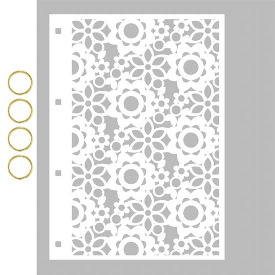 Capa-para-Mini-Album-em-Acrilico-Branco-Decore-Crafts-15x21cm-2101-64-Floral-II