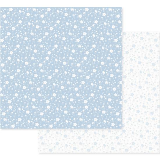 Papel-Scrapbook-Decore-Crafts-305x315cm-2004-12-Azul-Floral