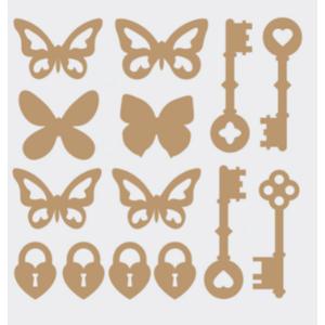 Aplique-Charme-Decore-Crafts-10x15cm-2003-15-Borboletas-e-Chaves-em-MDF