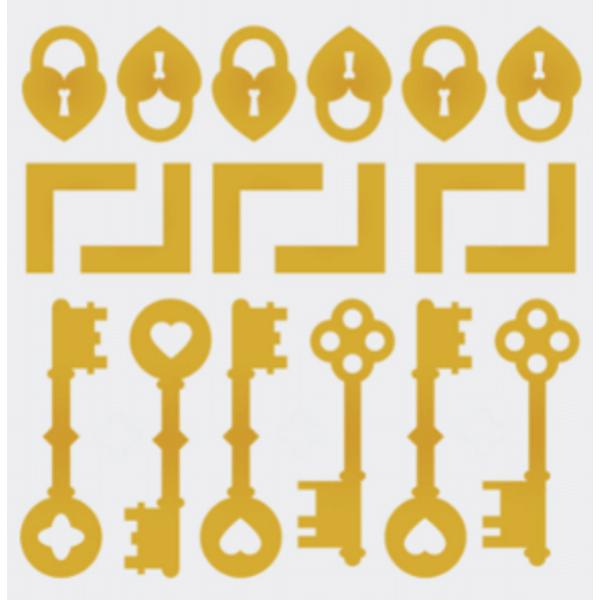 Aplique-Charme-Decore-Crafts-10x15cm-2003-41-Mix-Dourado