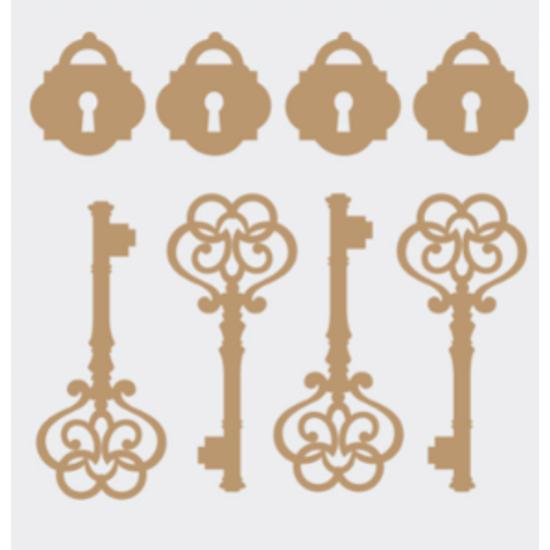 Aplique-Charme-Decore-Crafts-10x15cm-2101-37-Chaves-e-Cadeados-em-MDF