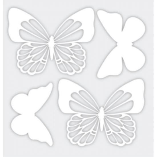 Aplique-Charme-Decore-Crafts-10x15cm-2101-43-Borboletas-II-Branco