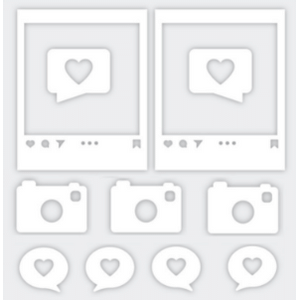 Aplique-Charme-Decore-Crafts-10x15cm-2101-44-Maquina-e-Molduras-Branco