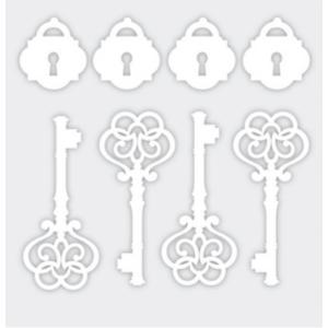 Aplique-Charme-Decore-Crafts-10x15cm-2101-45-Chaves-e-Cadeados-Branco