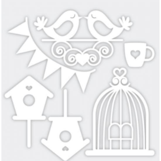 Aplique-Charme-Decore-Crafts-10x15cm-2101-49-Passaros-Branco