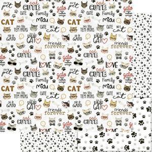 Papel-Scrapbook-Litoarte-305x305cm-SD-1175-Cute-Cat