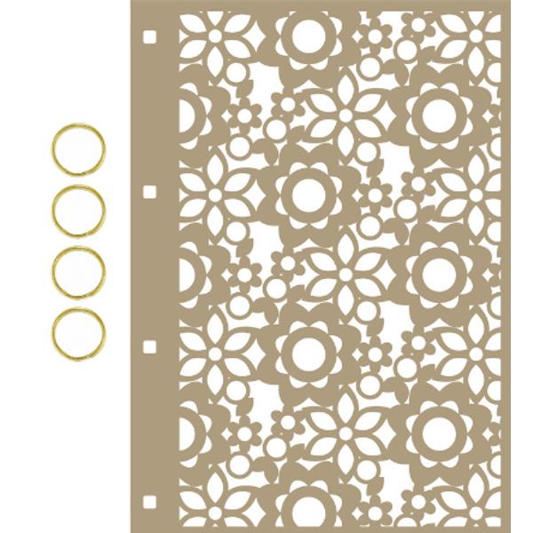 Capa-para-Mini-Album-em-MDF-Decore-Crafts-15x21cm-2101-60-Floral-A