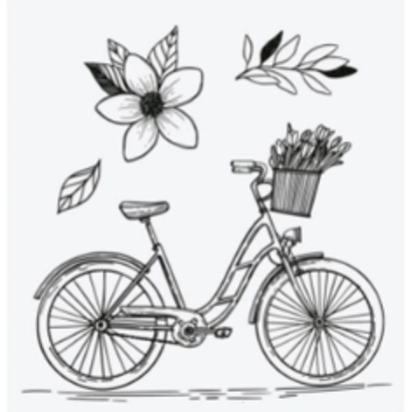 Carimbo-de-Silicone-Decore-Crafts-6x7cm-2005-34-Bicicleta