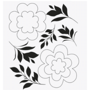 Carimbo-de-Silicone-Decore-Crafts-9x11cm-2005-32-Moldes-de-Flores