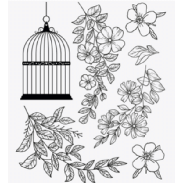 Carimbo-de-Silicone-Decore-Crafts-9x11cm-2101-24-Floral-II