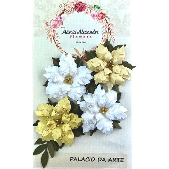 Flores-de-Papel-Artesanal-e-Perfumadas-Natal-Natalie-00028-01-Branca-com-Dourado