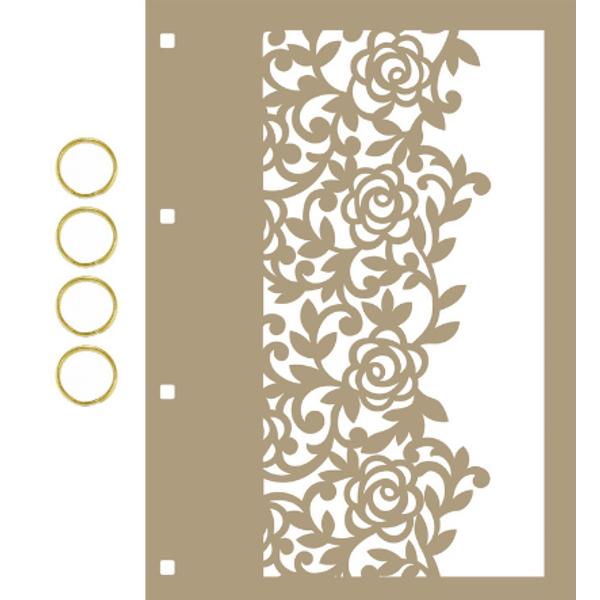 Capa-para-Mini-Album-em-MDF-Decore-Crafts-15x21cm-2101-58-Renda