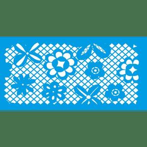 Stencil-Litocart-15x30cm-LSBCG-041-Renda-com-Flores