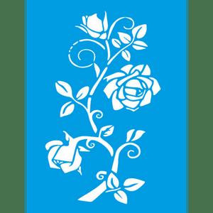 Stencil-Litocart-20x15cm-LSM-277-Galho-com-Rosas