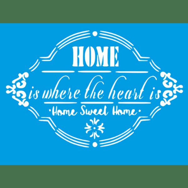 Stencil-Litocart-20x15cm-LSM-282-Home-Sweet-Home