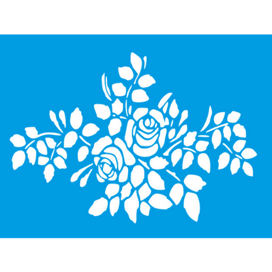 Stencil-Litocart-20x15cm-LSM-285-Rosas-e-Folhagens