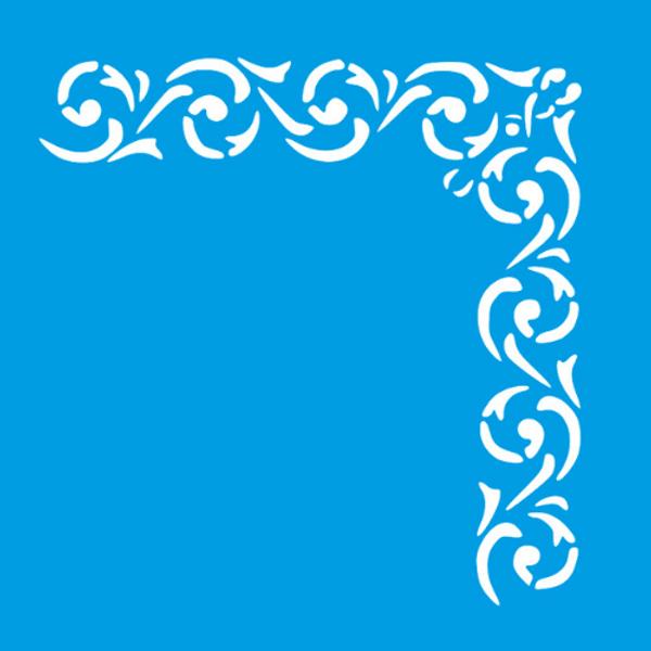 Stencil-Litocart-20x20cm-LSQ-224-Cantoneira-Arabesco