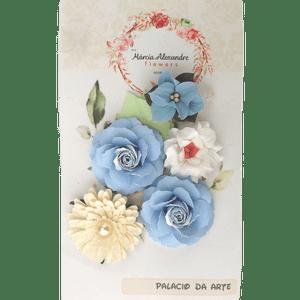 Flores-de-Papel-Artesanal-e-Perfumadas-Carmela-0009-05-Torta-Blueberry-com-Creme