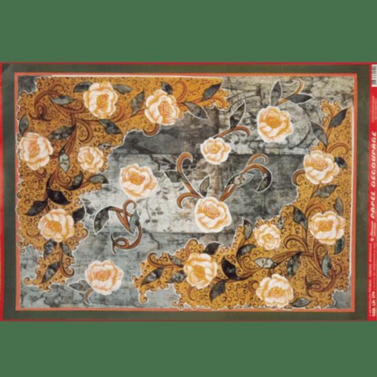 Papel-Decoupage-Litocart-34x48cm-LD-379-Flores-Rosas