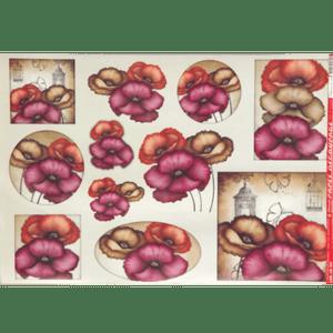Papel-Decoupage-Litocart-34x48cm-LD-547-Flores-Papoulas