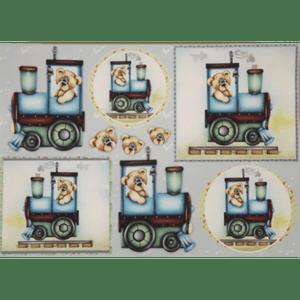 Papel-Decoupage-Litocart-34x48cm-LD-708-Ursinho-no-Trem
