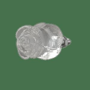 Puxador-de-Gaveta-Botao-de-Rosa-2x2-Resina-Transparente-Prata