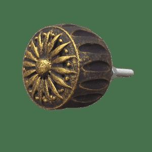 Puxador-de-Gaveta-Margarida-3x3-Resina-Preto-e-Dourado