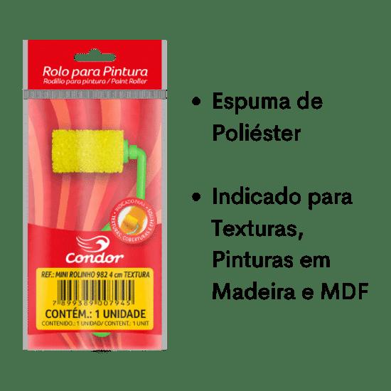 Mini-Rolinho-de-Espuma-Poliester-Textura-Condor-982-4cm-com-Cabo-Curto