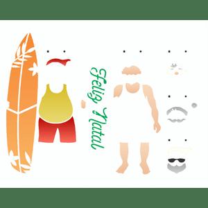 Stencil-Opa-Natal-20x25-3146-Papai-Noel-Verao-I
