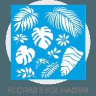 Stencil - Flores e Folhagens