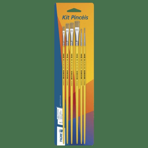 Kit-Pinceis-para-Pintura-6234-Cerda-Natural-com-6-unidades---Pinceis-Tigre