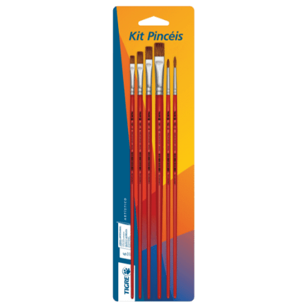Kit-Pinceis-para-Pintura-6235-Pelo-Orelha-de-Boi-com-6-unidades---Pinceis-Tigre