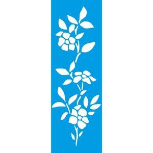 Stencil-Litocart-10x30cm-LSBC-039-Ramo-de-Flores