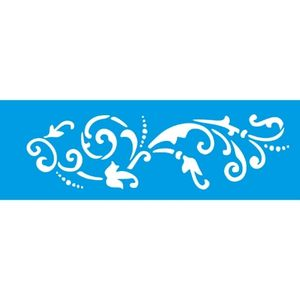 Stencil-Litocart-10x30cm-LSBC-042-Arabesco-Ornamento