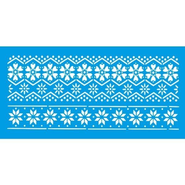 Stencil-Litocart-15x30cm-LSBCG-049-Croche-de-Flores