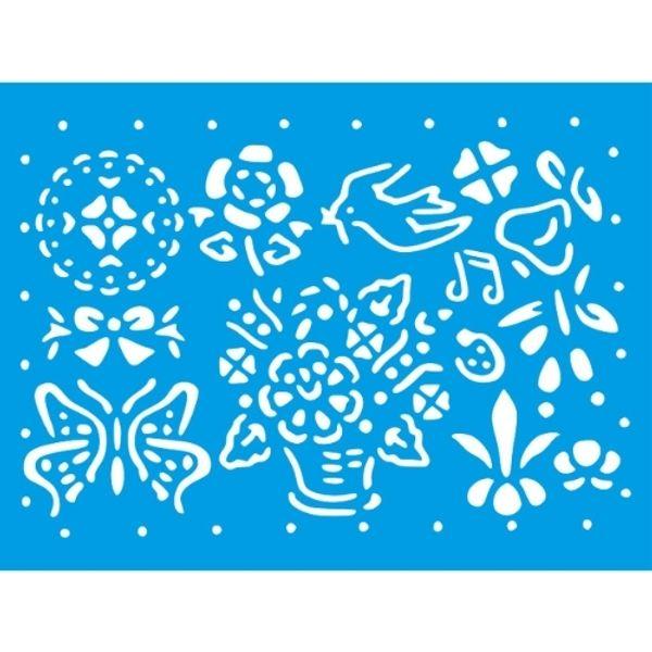 Stencil-Litocart-20x15cm-LSM-290-Elementos-Jardim