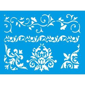 Stencil-Litocart-20x15cm-LSM-291-Barra-e-Cantoneira-Arabesco
