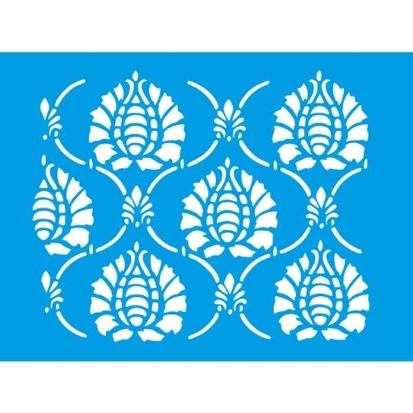 Stencil-Litocart-20x15cm-LSM-298-Arabesco-Grade
