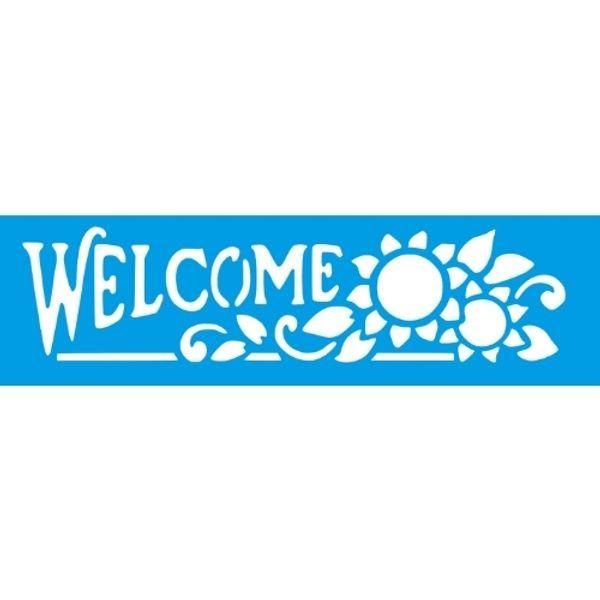 Stencil-Litocart-30x85cm-LS-083-Welcome-Girassol