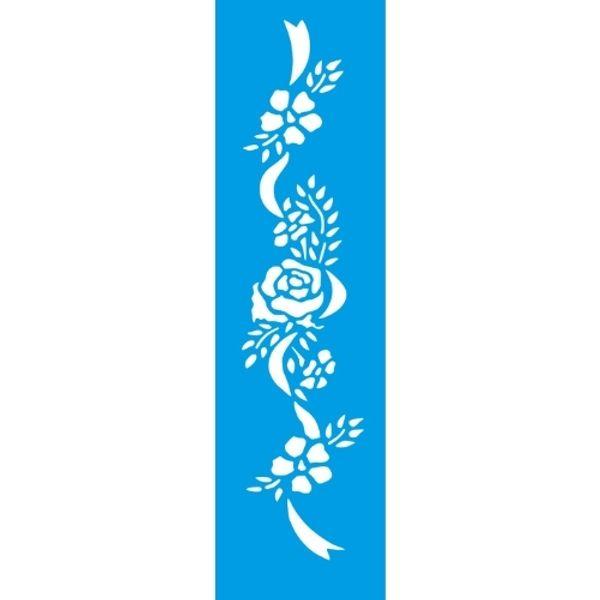 Stencil-Litocart-30x85cm-LS-082-Fita-com-Rosas